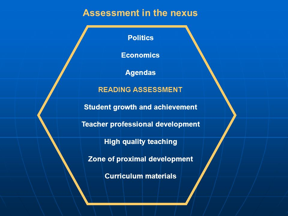 Assessment in the nexus