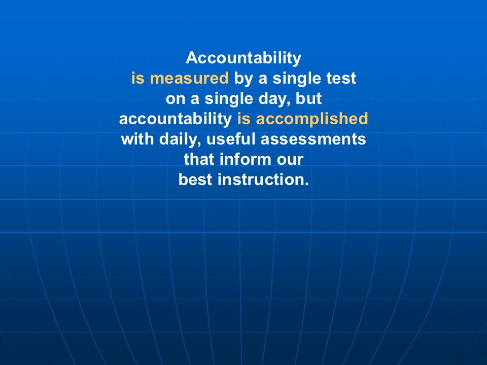 is measured by a single test on a single day, but