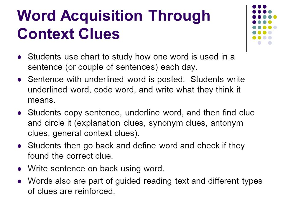 Word Acquisition Through Context Clues