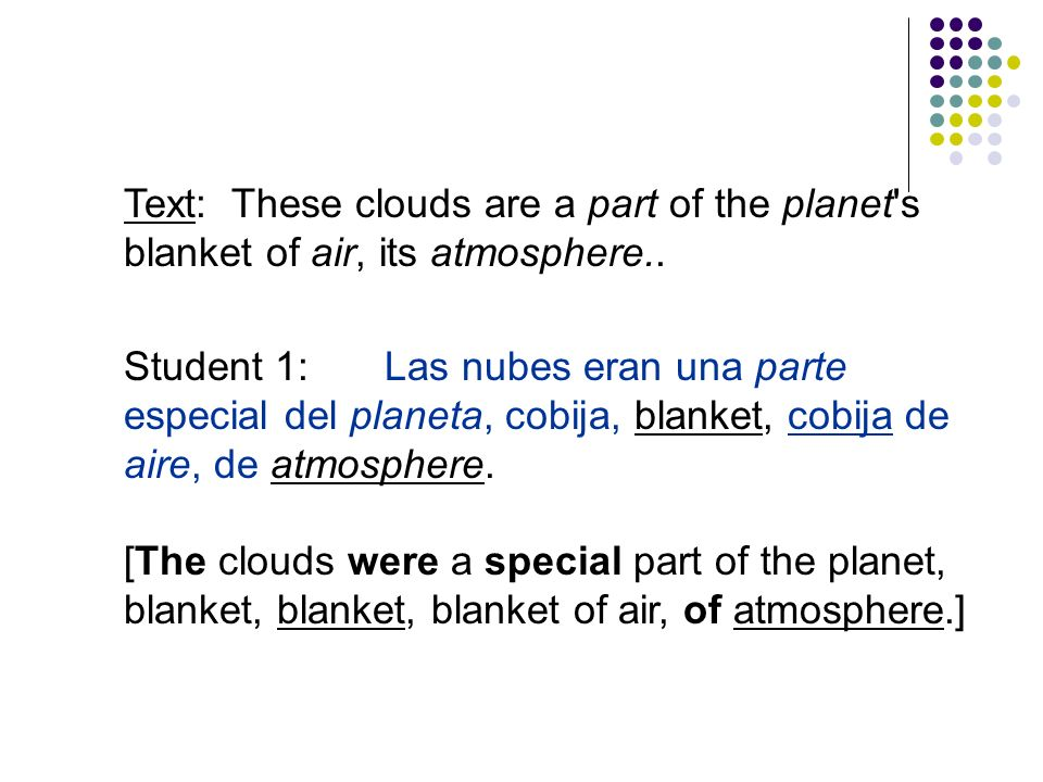 Text: These clouds are a part of the planet s blanket of air, its atmosphere..