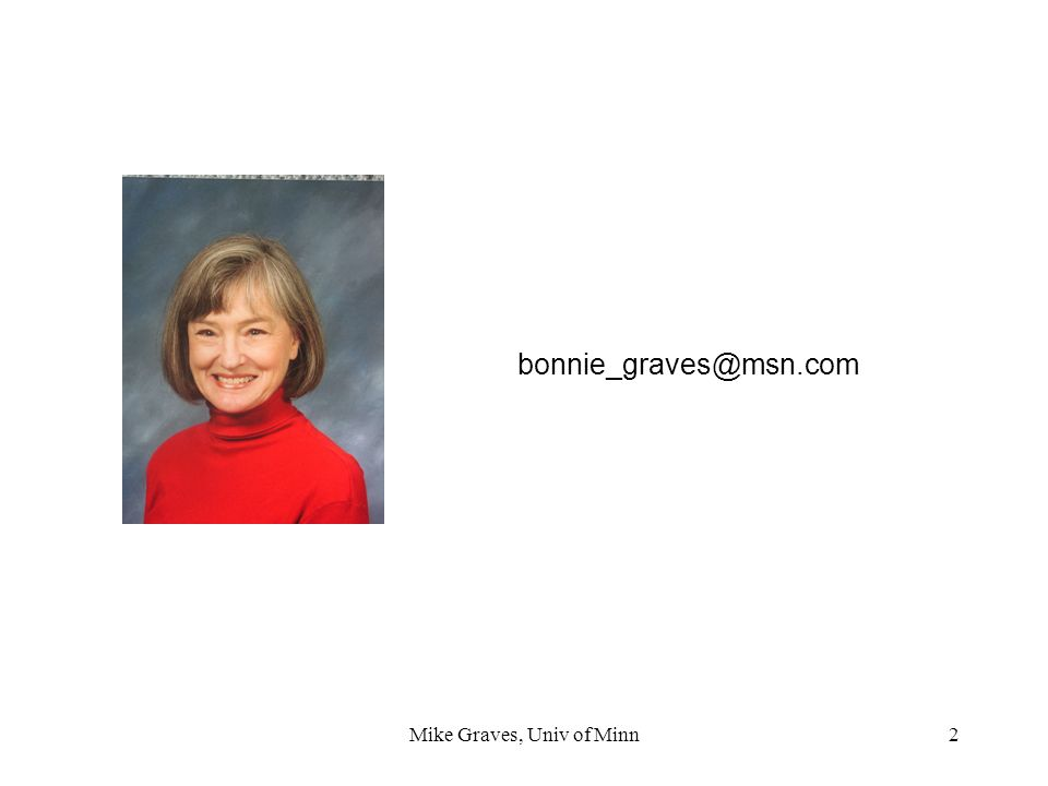 Mike Graves, Univ of Minn