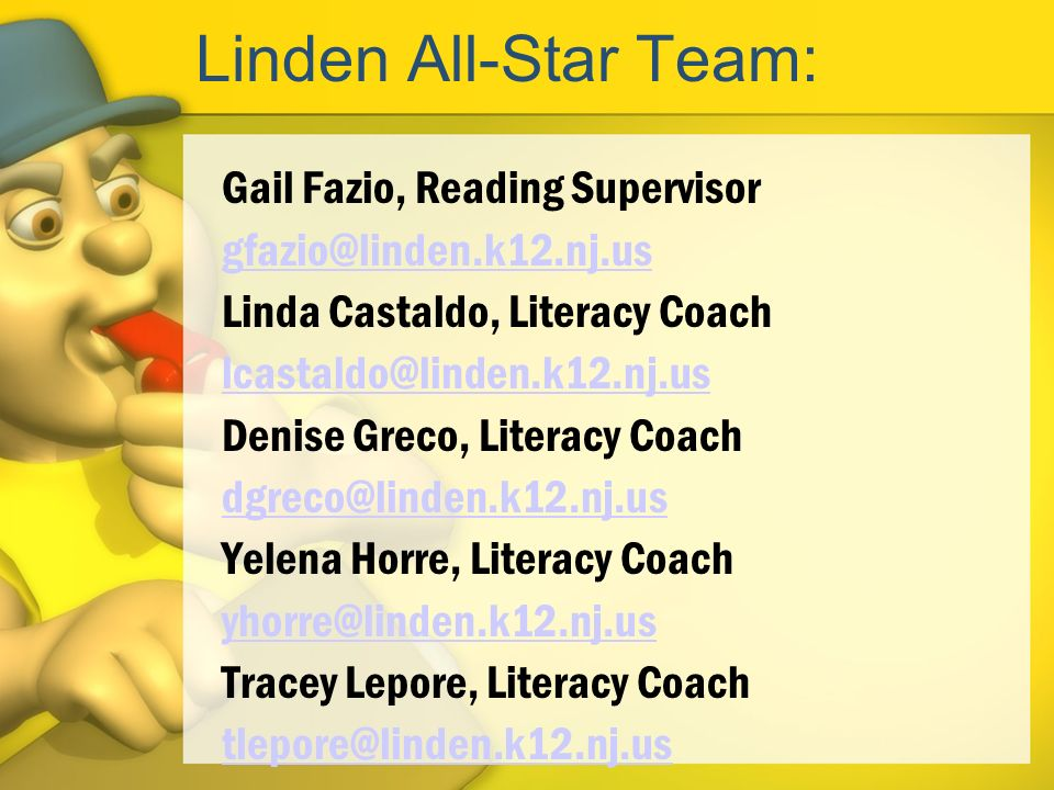 Linden All-Star Team: Gail Fazio, Reading Supervisor