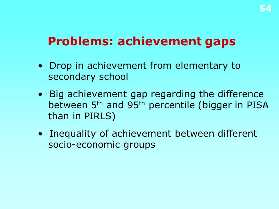 Problems: achievement gaps