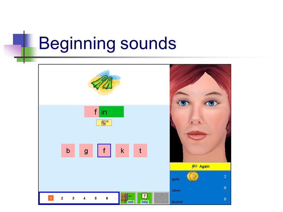 Beginning sounds