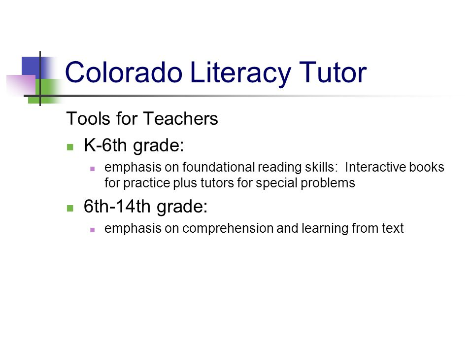 Colorado Literacy Tutor
