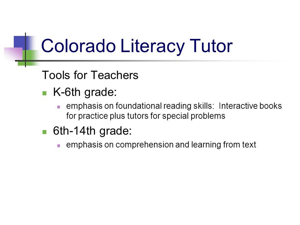 Colorado Literacy Tutor