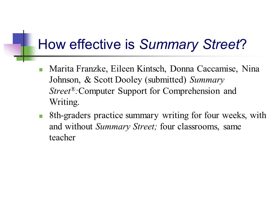 How effective is Summary Street