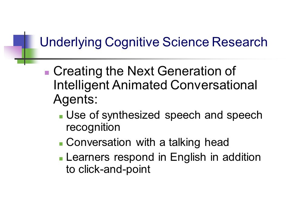 Underlying Cognitive Science Research