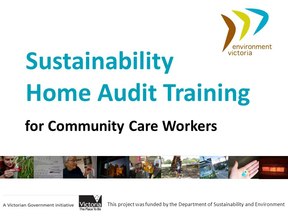 Sustainability Home Audit Training for Community Care Workers