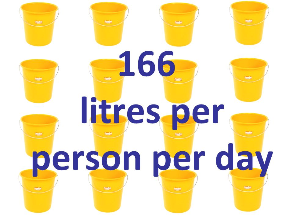 166 litres per person per day