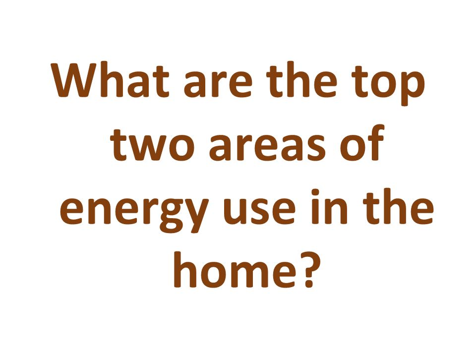 What are the top two areas of energy use in the home