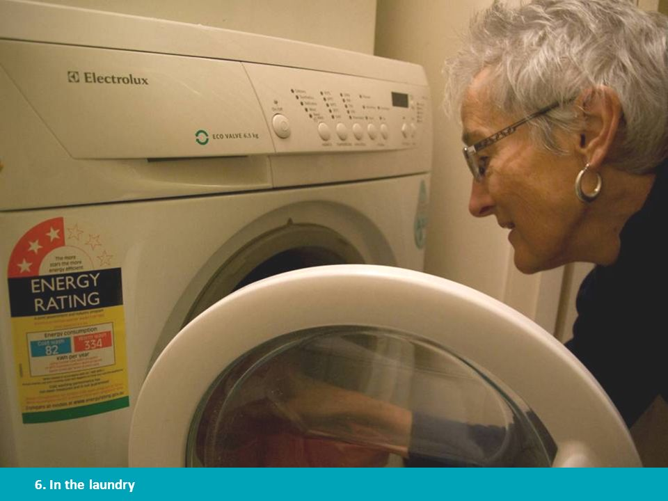 15-20% of all water consumed in the home is used in the laundry