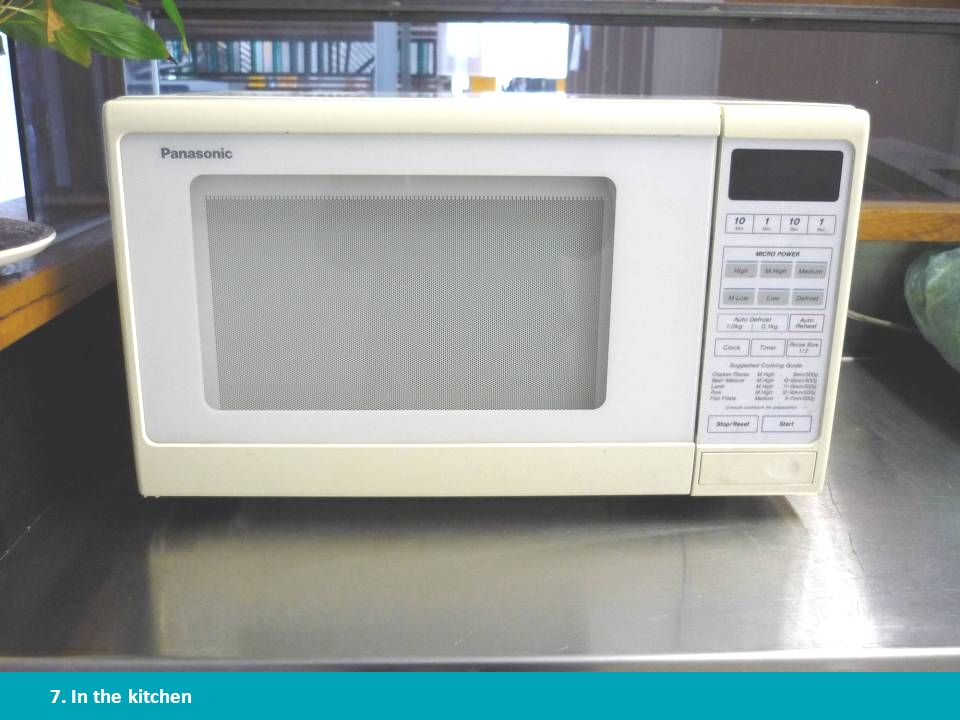 A microwave uses much less energy than an electric stove or oven