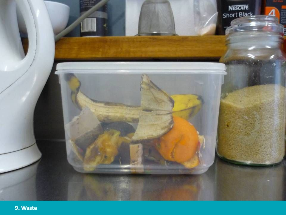 It is a hassle to have to go outside to the compost bin every time you have food waste. That's where a small compost bin or bucket inside helps reduce the number of trips outside.