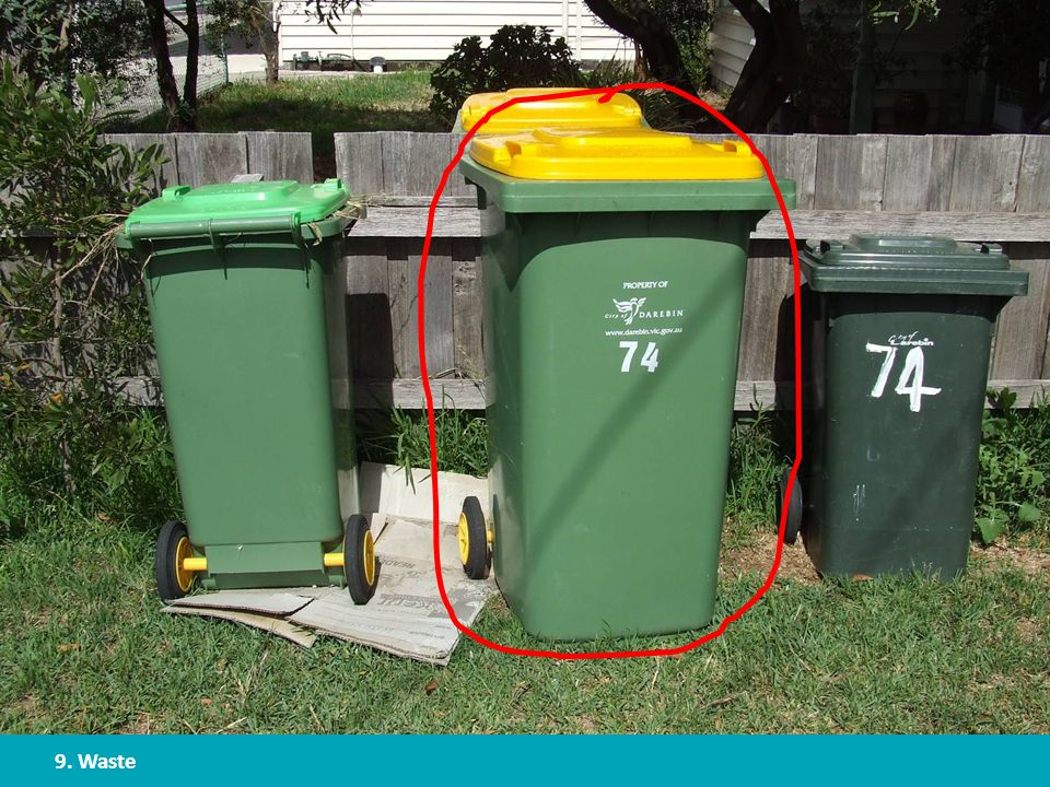9. Waste What type of items can be recycled in your area