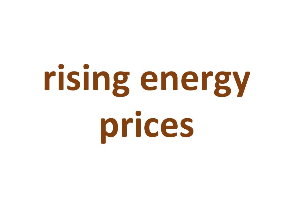 rising energy prices