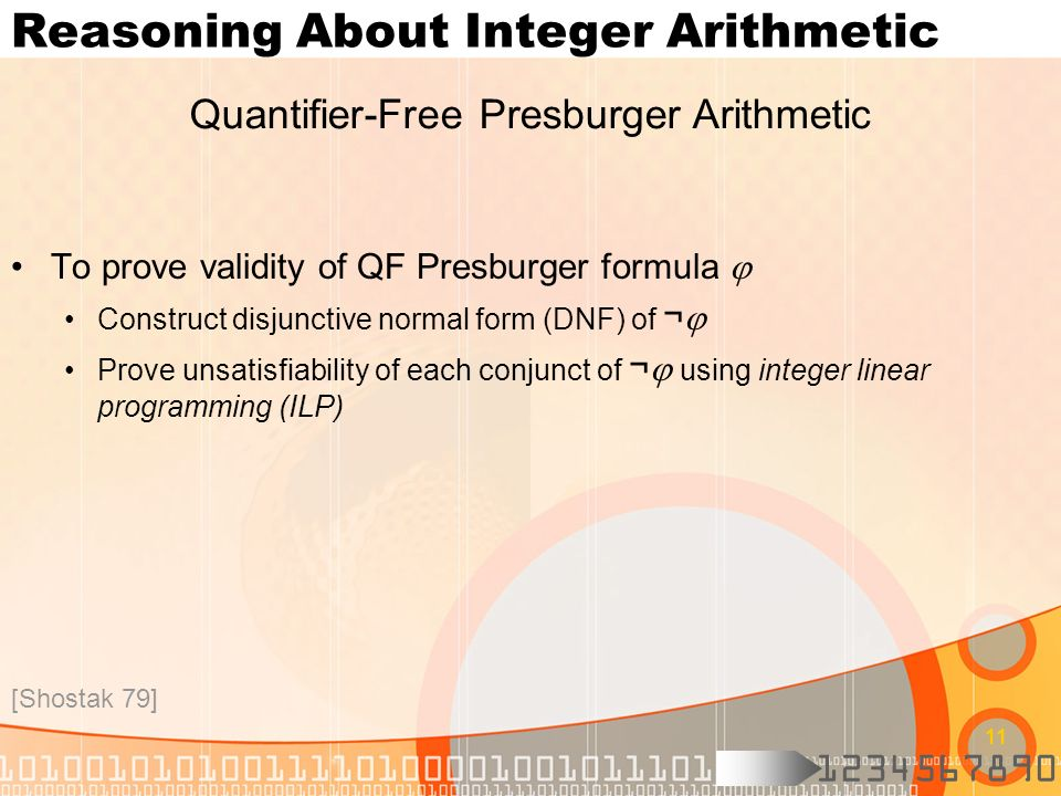 Reasoning About Integer Arithmetic