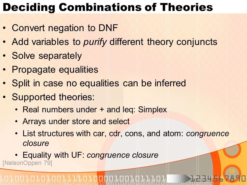 Deciding Combinations of Theories