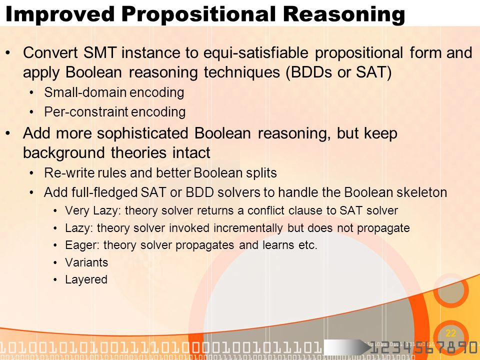 Improved Propositional Reasoning