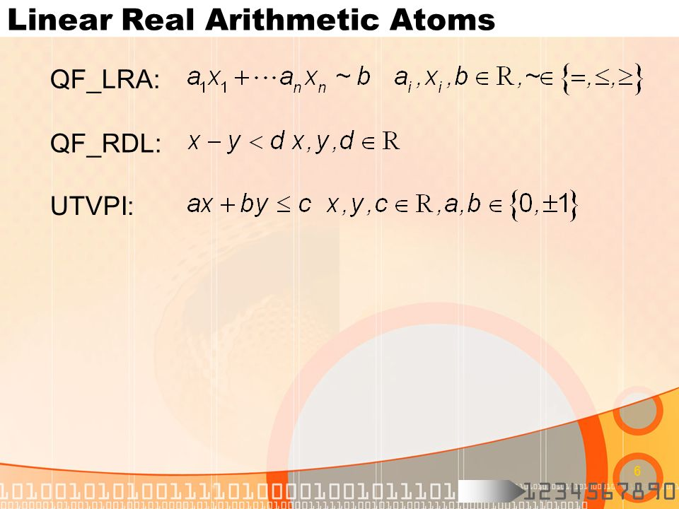 Linear Real Arithmetic Atoms