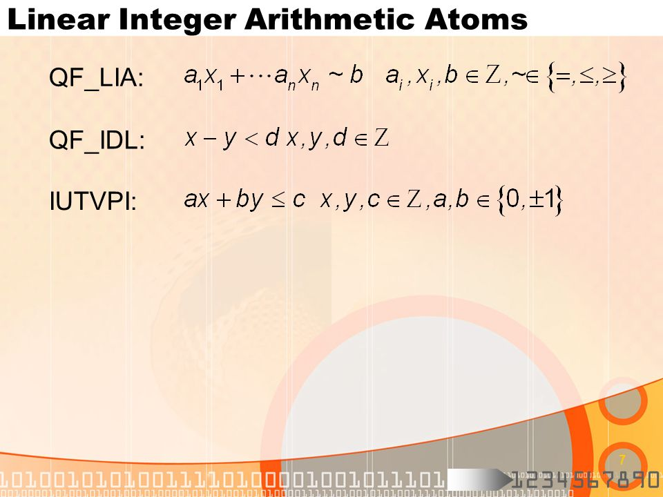 Linear Integer Arithmetic Atoms