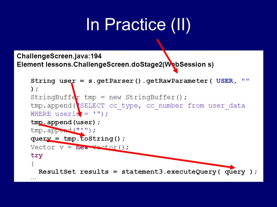 In Practice (II) ChallengeScreen.java:194