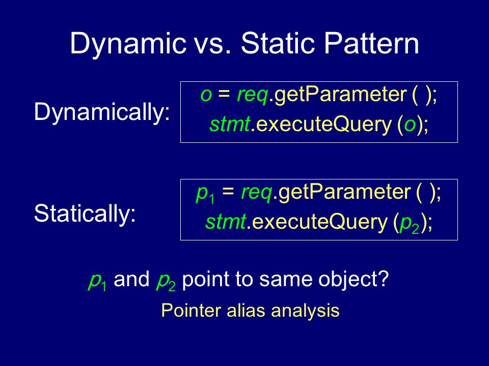 Dynamic vs. Static Pattern