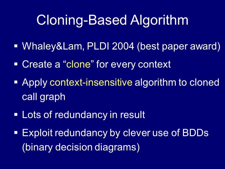 Cloning-Based Algorithm