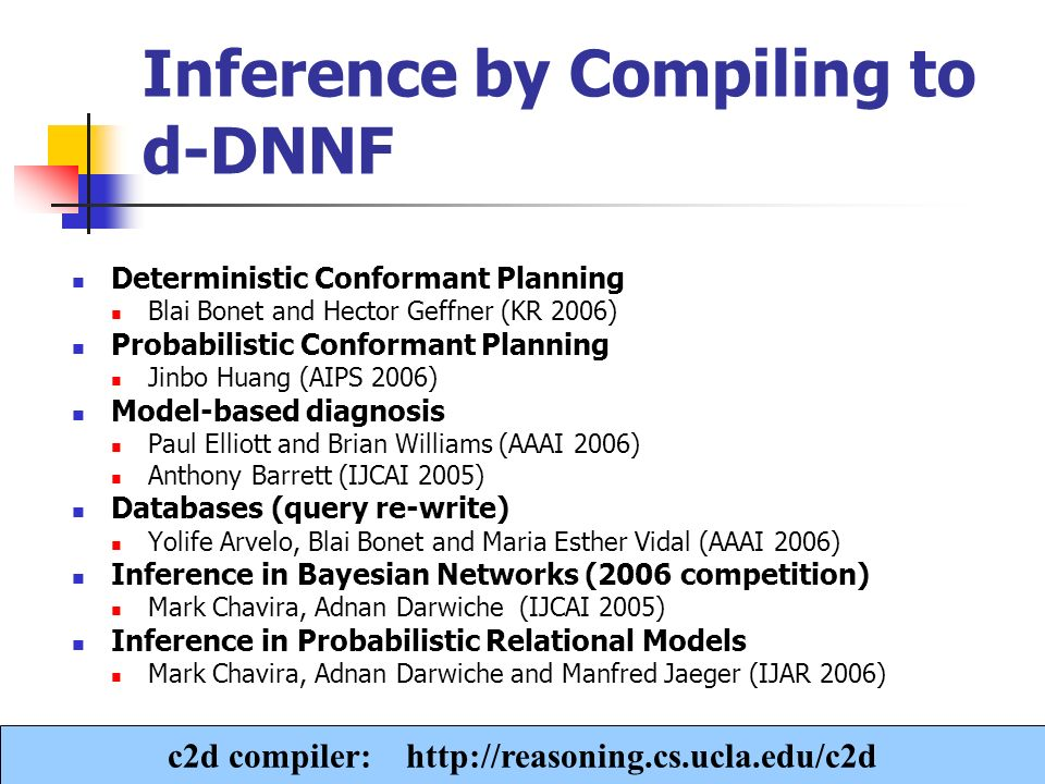 Inference by Compiling to d-DNNF
