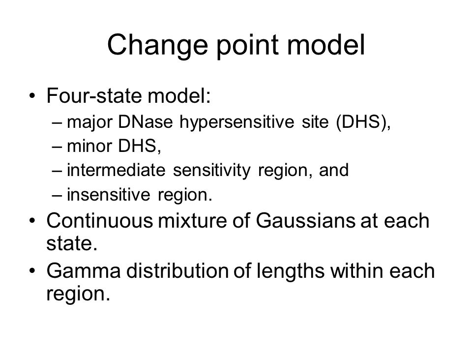 Change point model Four-state model: