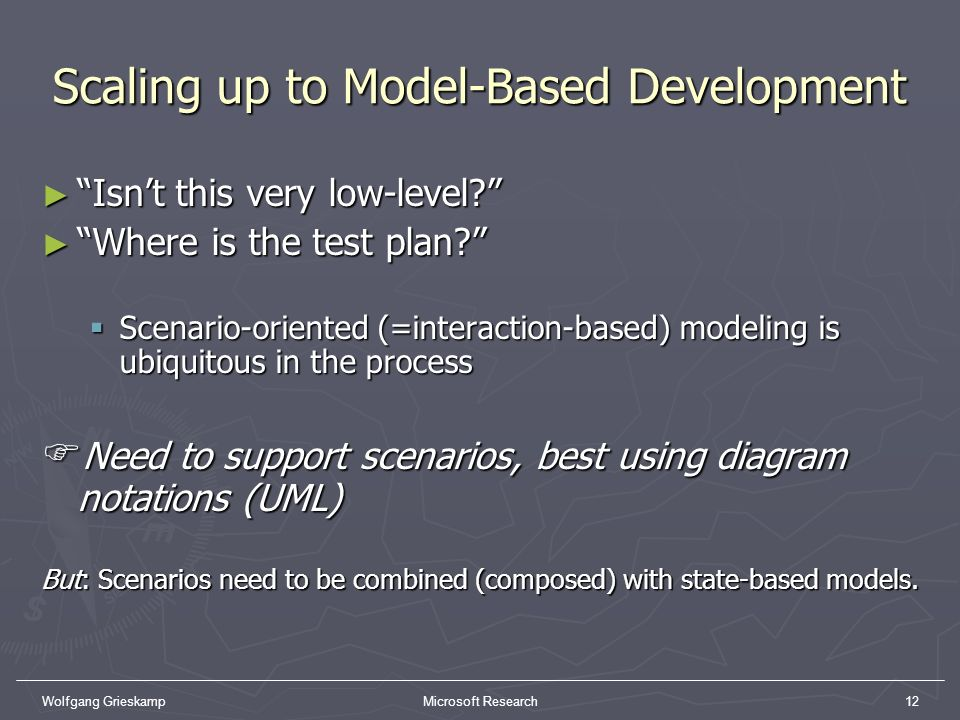 Scaling up to Model-Based Development
