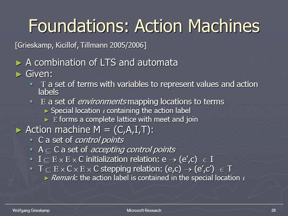 Foundations: Action Machines