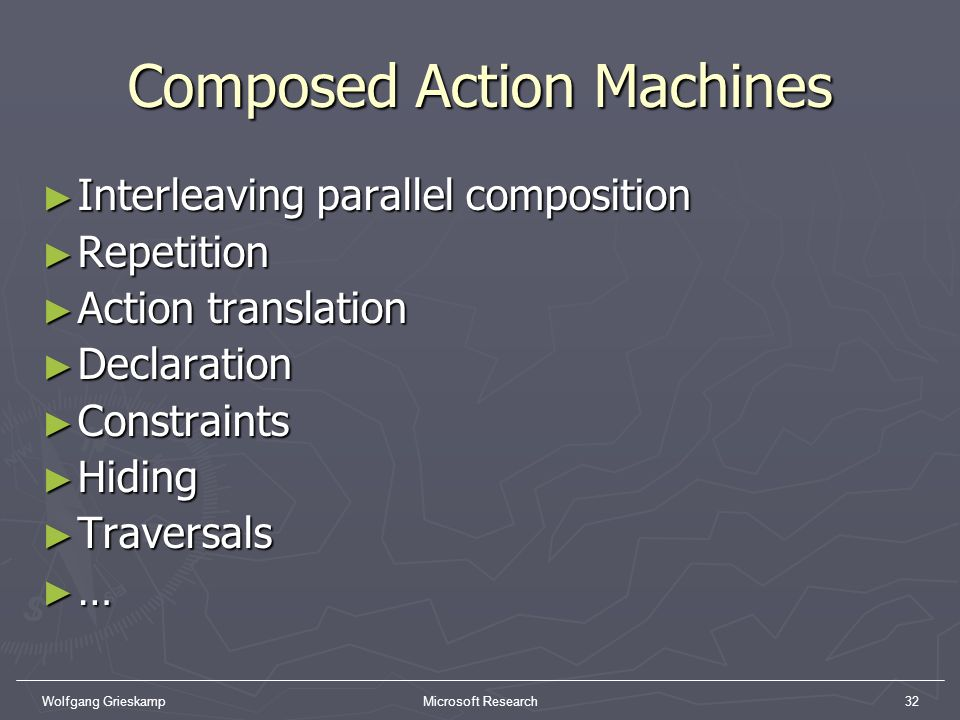 Composed Action Machines