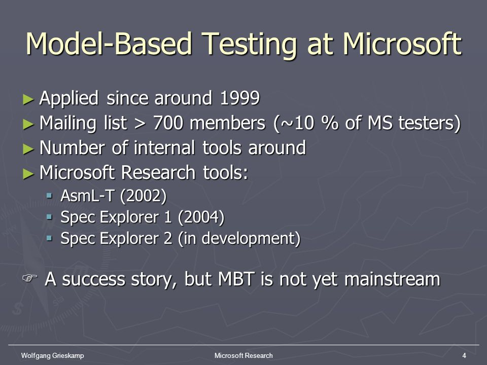 Model-Based Testing at Microsoft