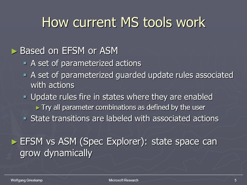 How current MS tools work