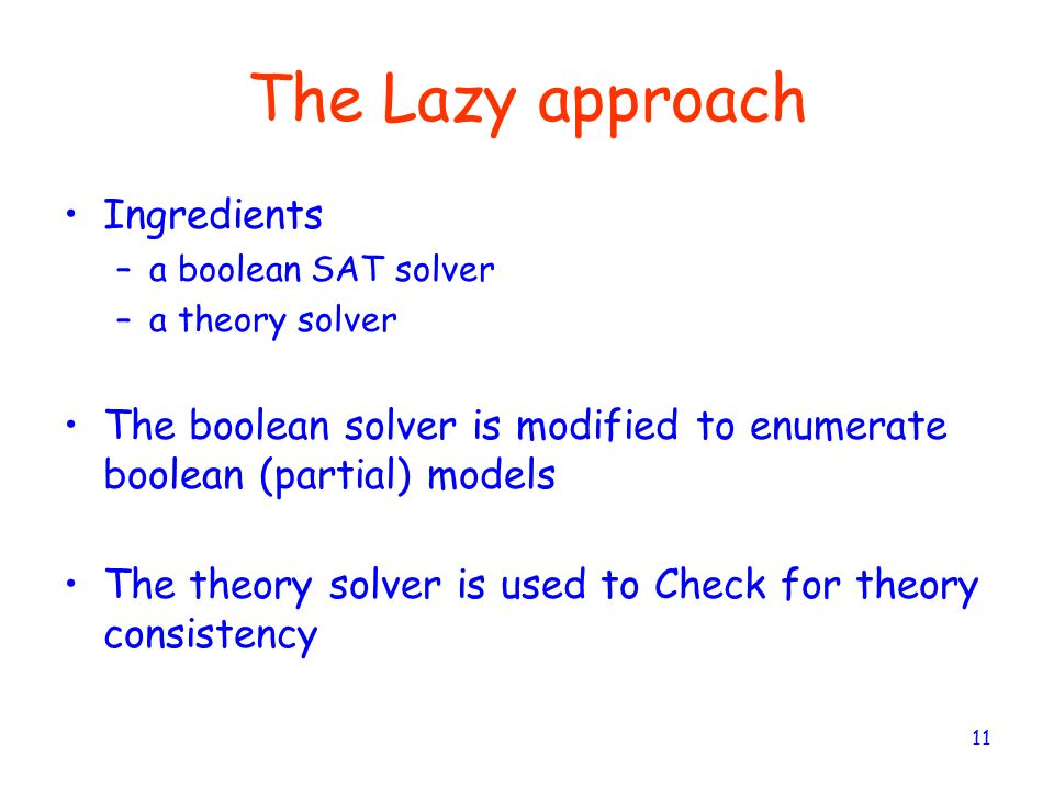 The Lazy approach Ingredients