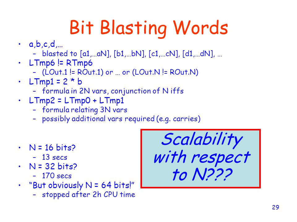 Scalability with respect to N