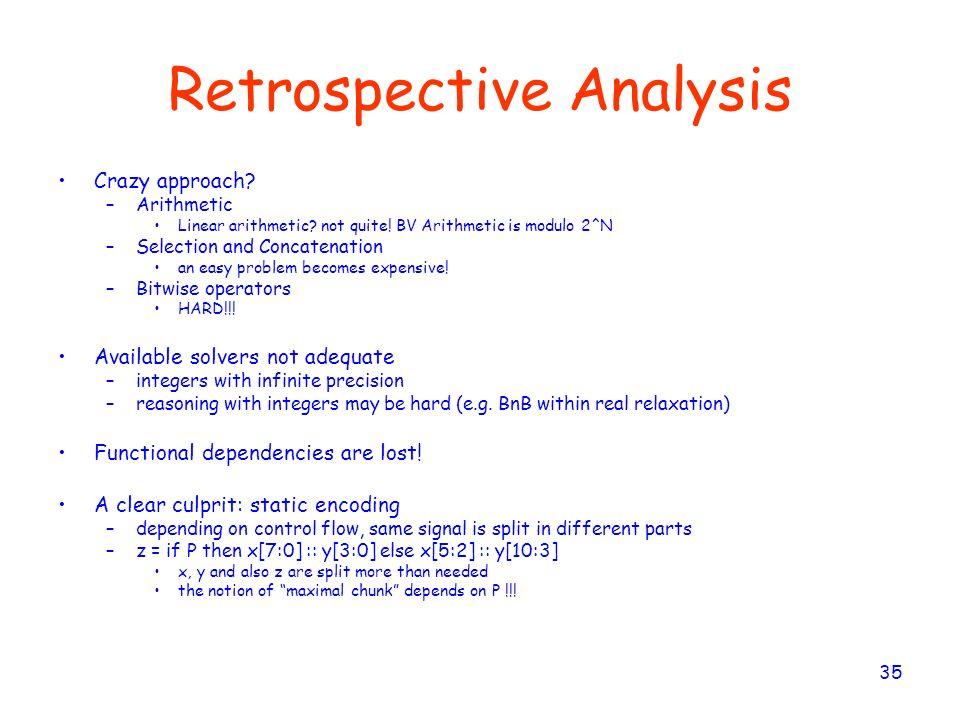Retrospective Analysis