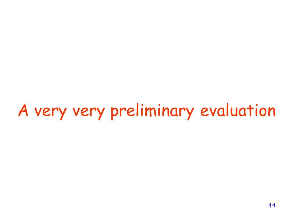 A very very preliminary evaluation