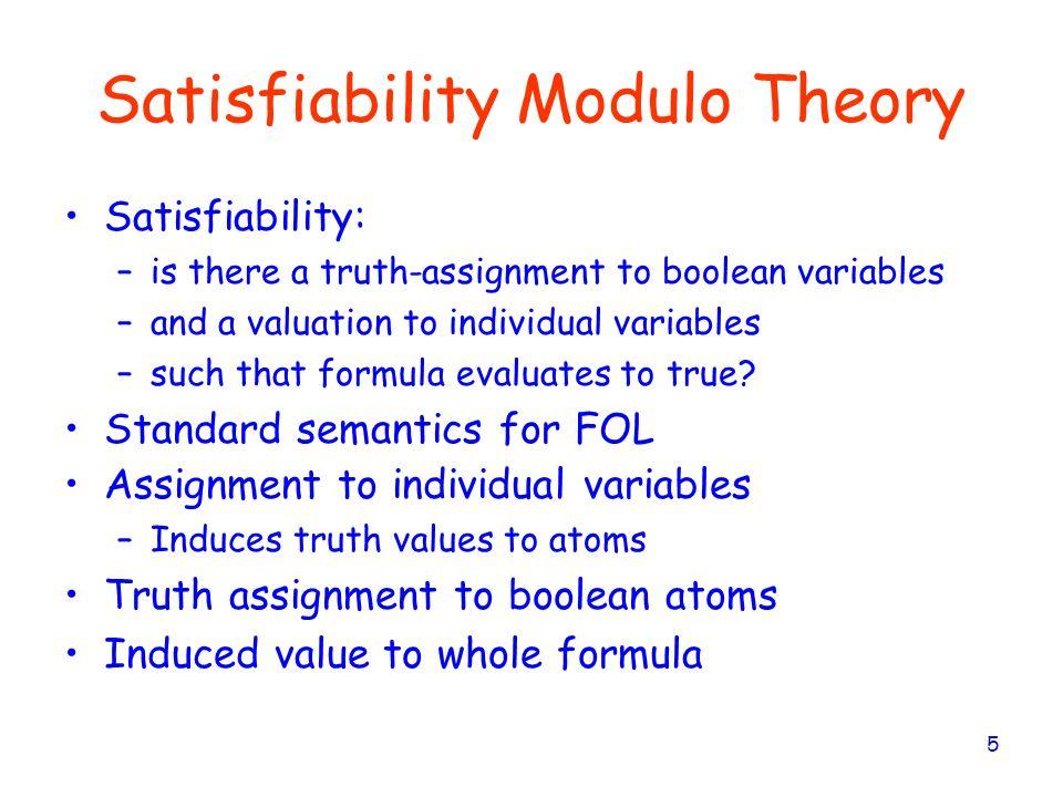 Satisfiability Modulo Theory