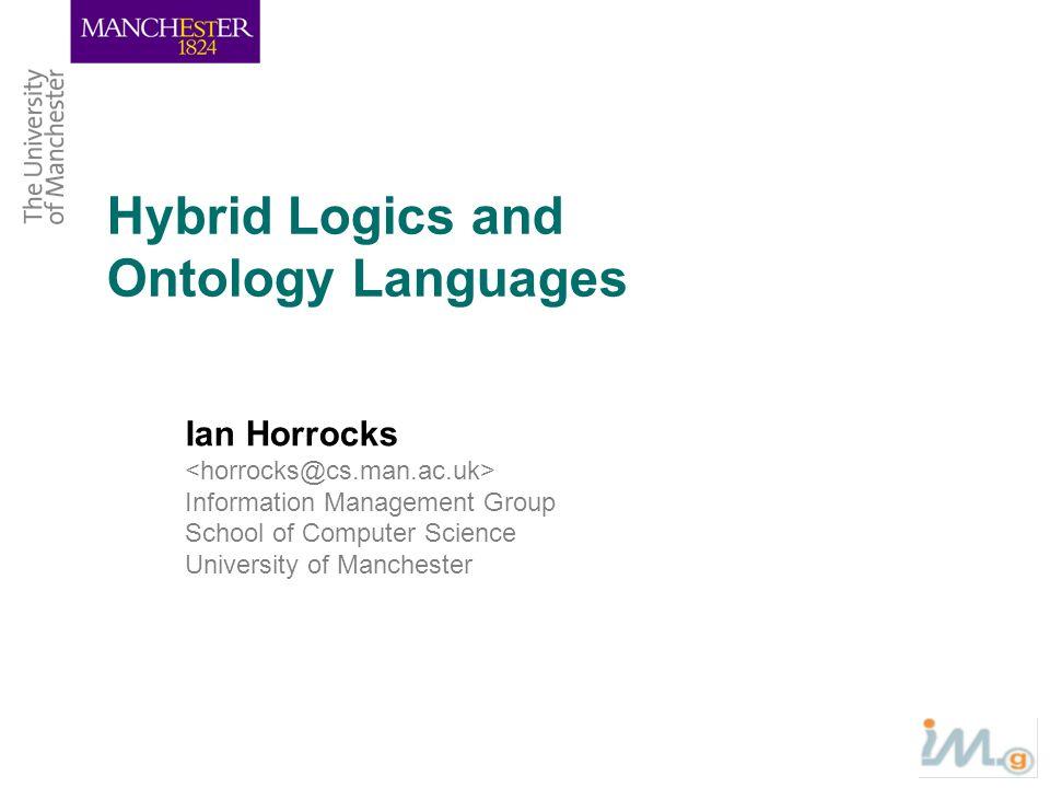 Hybrid Logics and Ontology Languages