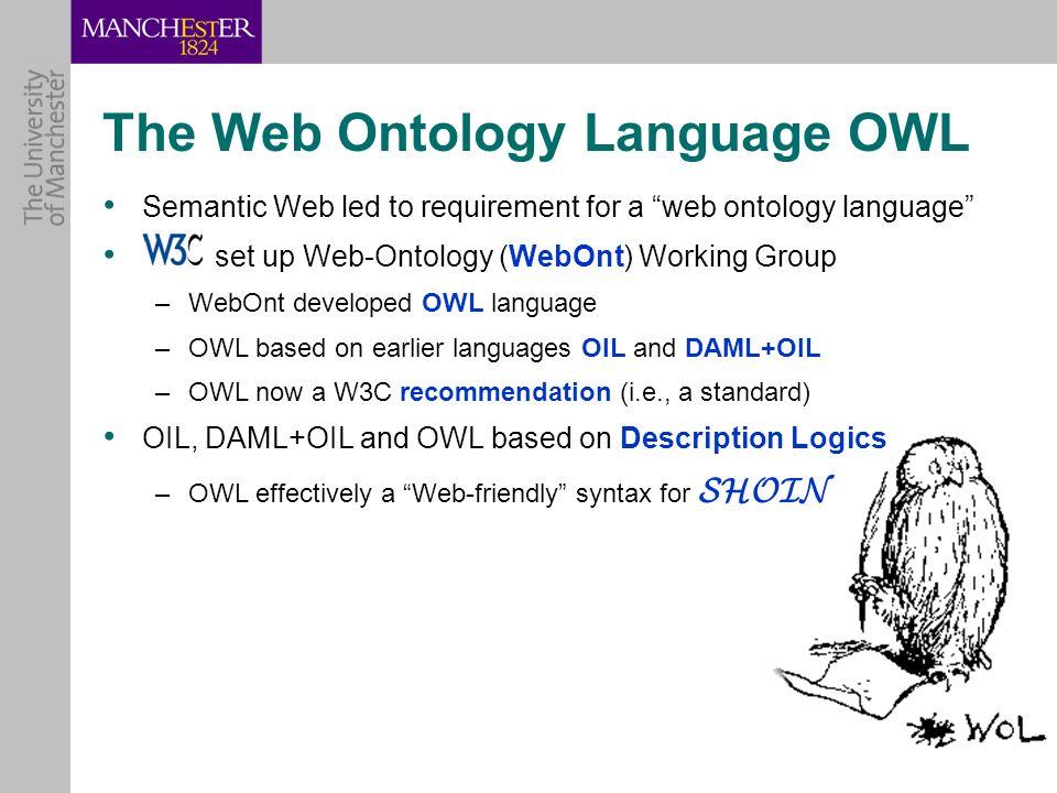 The Web Ontology Language OWL