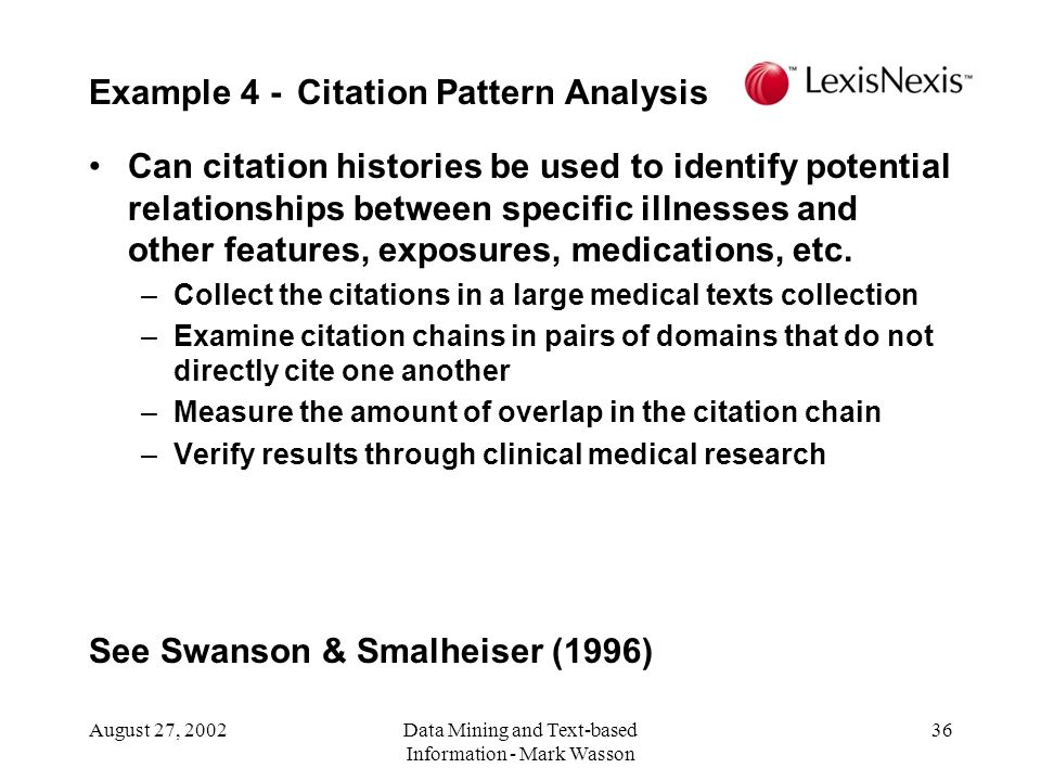 Example 4 - Citation Pattern Analysis