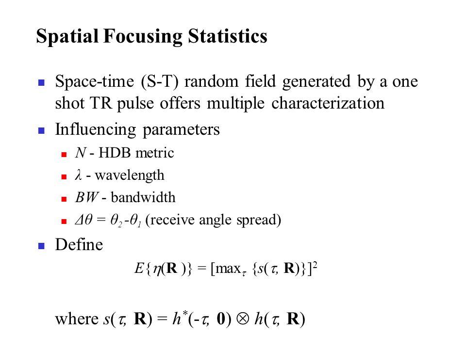 Spatial Focusing Statistics