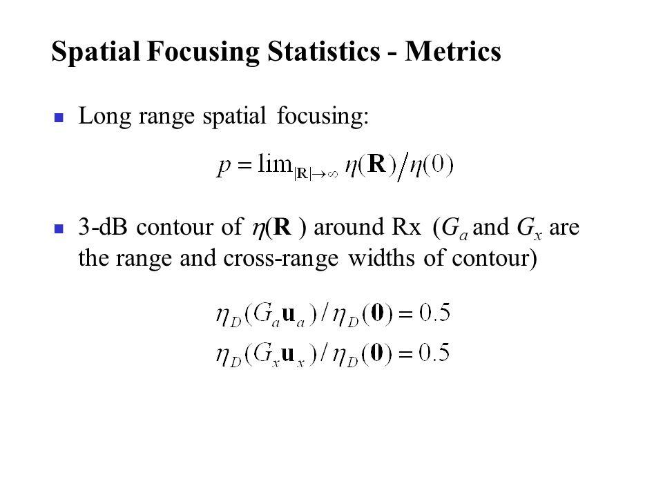 Spatial Focusing Statistics - Metrics