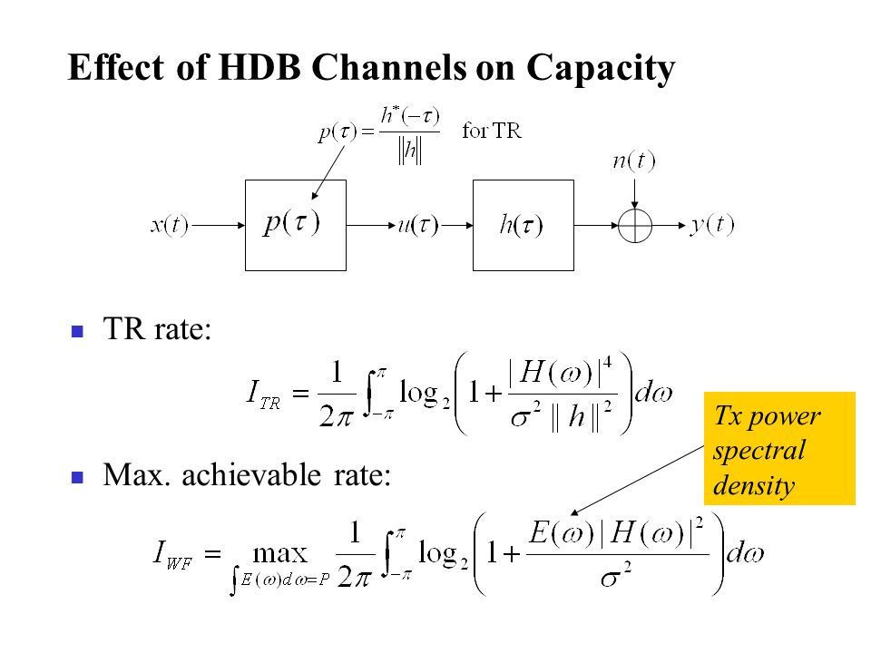 Effect of HDB Channels on Capacity