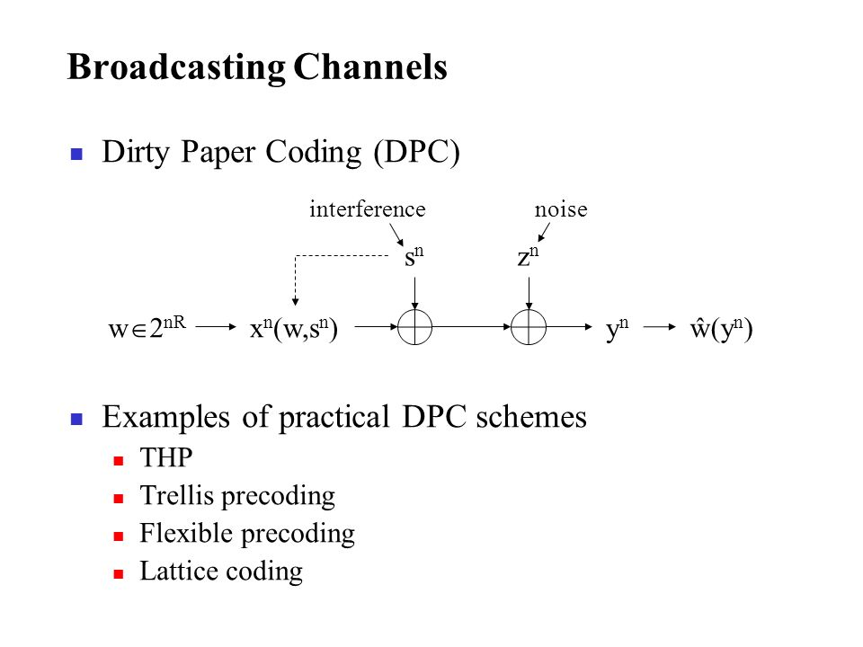 Broadcasting Channels