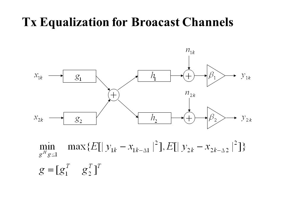 Tx Equalization for Broacast Channels