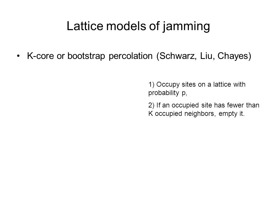 Lattice models of jamming