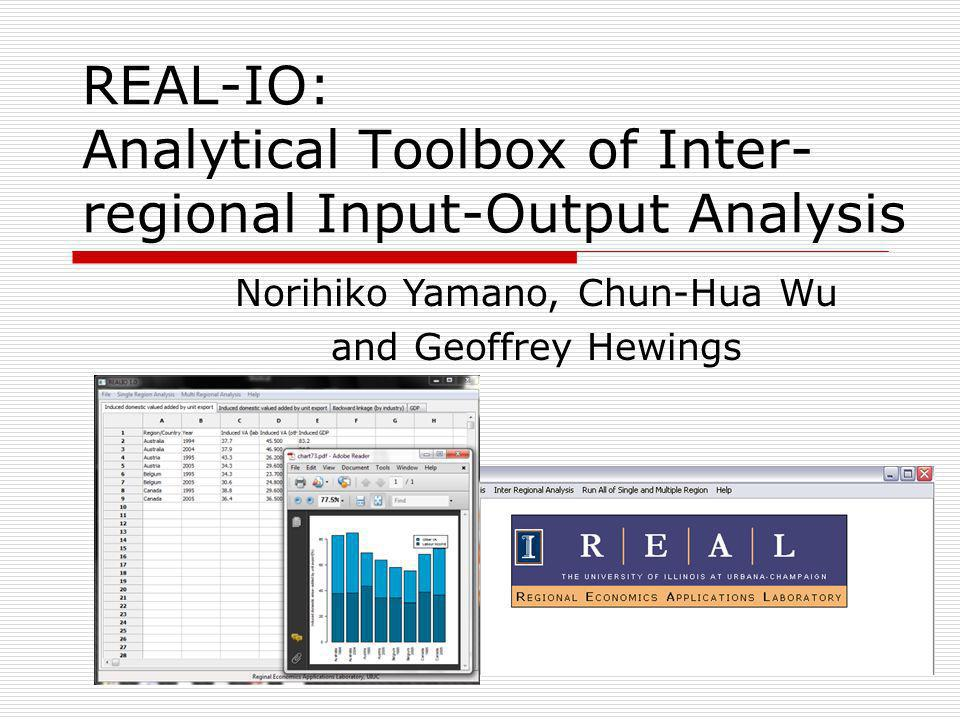 REAL-IO: Analytical Toolbox of Inter-regional Input-Output Analysis